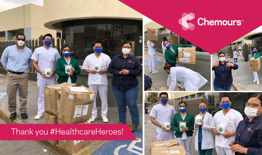 Members of our Laguna plant in Mexico recently donated over 900 #PPE overalls and suits to help protect local #HealthcareHeroes as they continue to fight #COVID19. Thank you to our team for rising to the occasion! #ChemistryResponds https://t.co/14TBM1SD7c https://t.co/8jrX9LqzAK