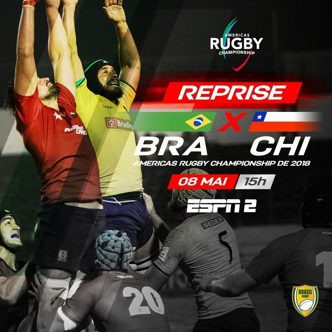 Hoje tem reprise de jogo do Brasil Rugby na @espnbrasil. A partida que veremos será contra o Chile em histórica vitória dos Tupis, em Santiago, pelo Américas Rugby Championship de 2018. A reprise acontece, às 15h, na ESPN 2 e também no Watch ESPN. Imperdível! #BrasilRugby