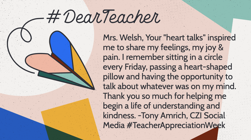 #DearTeachers: Thank you so much for helping us become compassionate people. ❤️#TeacherAppreciationWeek
