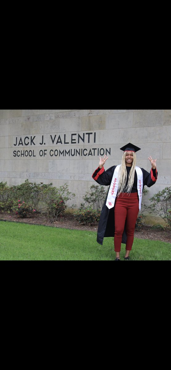 """THE GAME IS GONNA TEST YOU, NEVER FOLD""  Praises to the most high‼️  Jack J Valenti School of Communication  MAJOR: Broadcast Journalism MINOR: African American Studies   I MADE IT‼️‼️🙏🏿🙏🏿 https://t.co/dT6Ome1JQ4"
