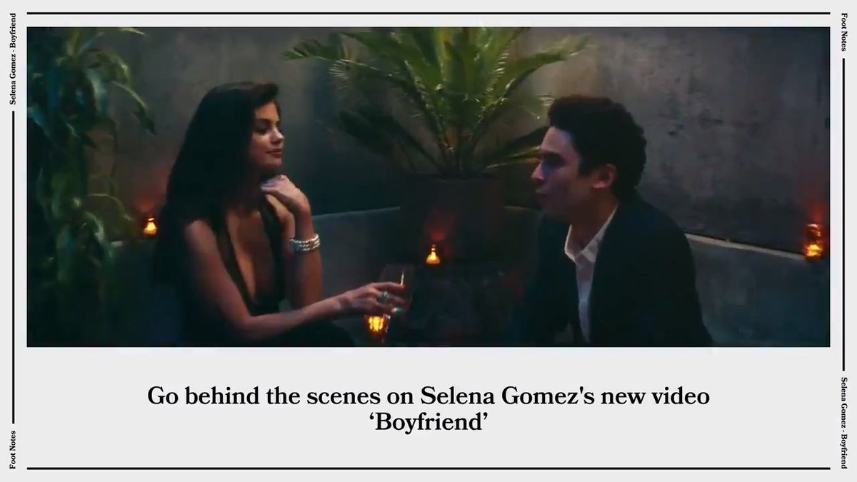 """We got all the details on @selenagomez's """"Boyfriend"""" video, straight from director @Matty_Peacock. From prosthetic hands to hidden frogs, Vevo's Footnotes uncovers it all. 🐸 🎥 ⠀⠀⠀⠀⠀⠀⠀⠀⠀ ▶️ https://t.co/UaWacRVwy2 https://t.co/jyWd1351T6"""