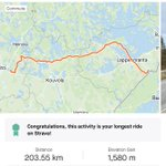 Beautiful 203km ride from Nastola to the Russian border today with @tiffanycromwell 🇫🇮 I mean why not 😉💪🏼  #VB77 #fromwhereiride #training #friday #boom