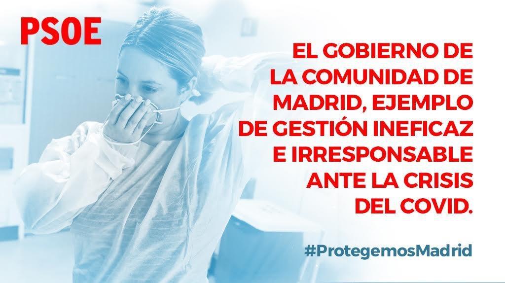 La vida y la salud de los madrileños y madrileñas es lo primero.  Por delante de cálculos partidistas, economistas o propagandistas, está la seguridad.  #ProtegemosMadrid https://t.co/AtZRRaPTb3
