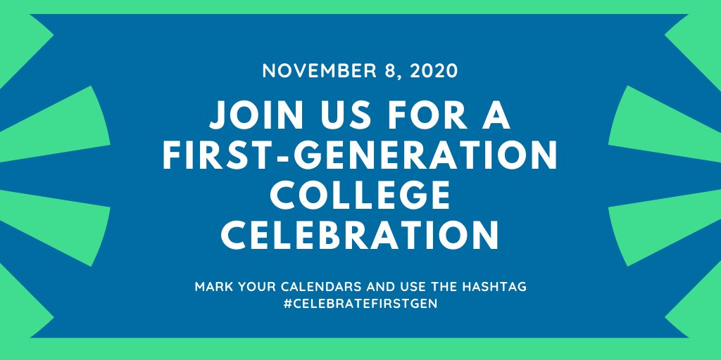 On November 8, we encourage colleges & universities to celebrate the success of first-generation college students, faculty, & staff in every way possible. Get creative! Tag @COETalk & @FirstgenCenter, then use the #CelebrateFirstGen! More info here: