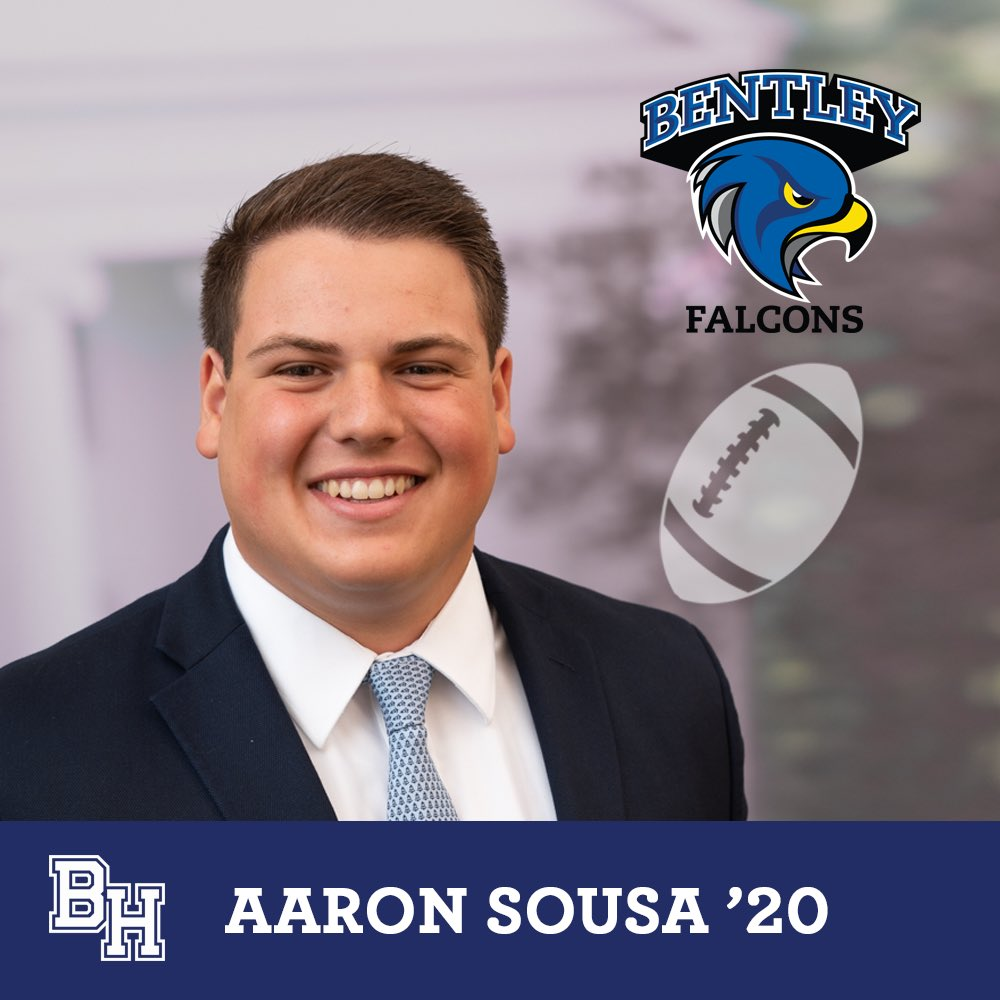 Class of 2020 spotlight on student-athlete recruits: Aaron Sousa will play football for Bentley #belmonthill2020