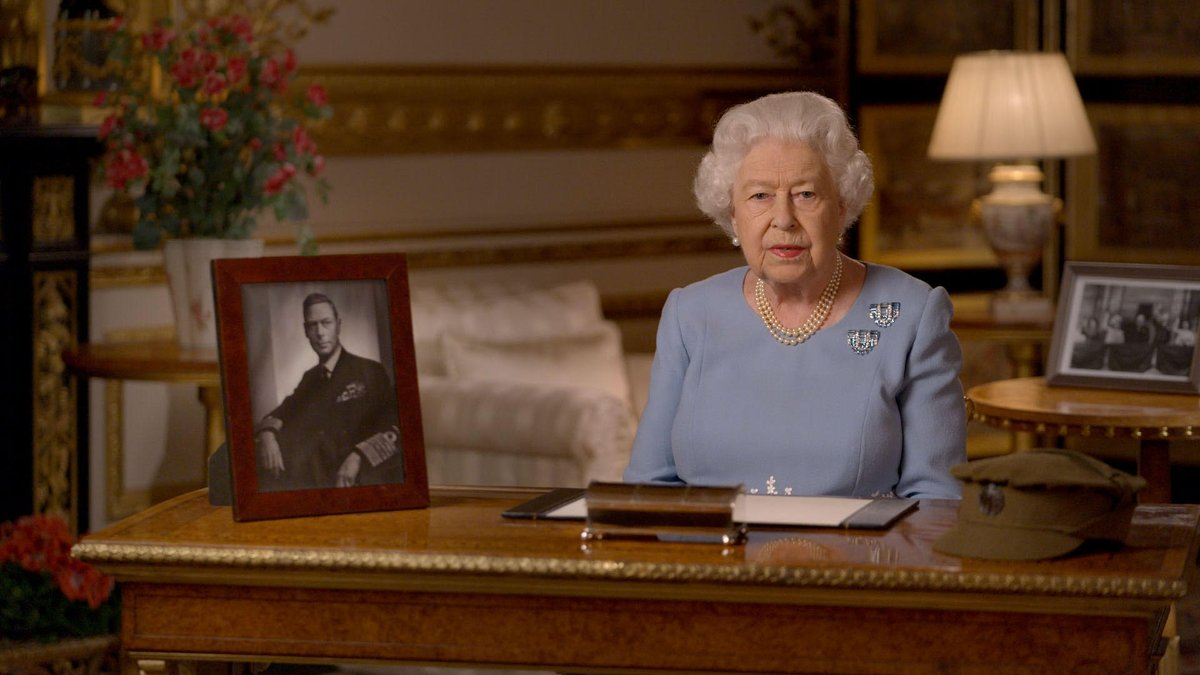 Never give up, never despair - that was the message of VE Day An address by Her Majesty The Queen on the 75th anniversary of VE Day #VEDay75