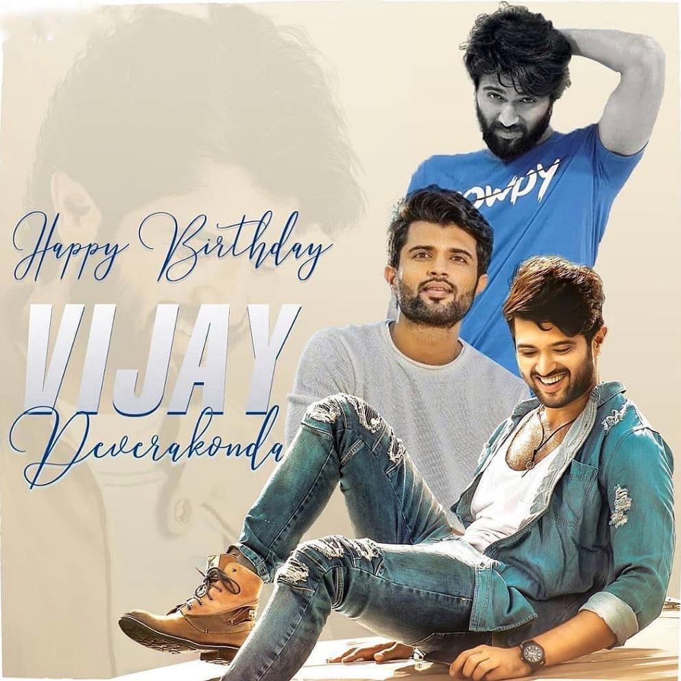Happiest Birthday Mr.Vijay Devarkonda (Rowdy) super star #thedeverakonda #vijaydevarakonda #telgumovie #thedeverakondafoundation #devarkondafan#thedeverakondafoundation #dearcomrademusicfestival #birthdayboy#lockdown #vijaydeverakonda #deverakondapic.twitter.com/L8KnhJo6qJ
