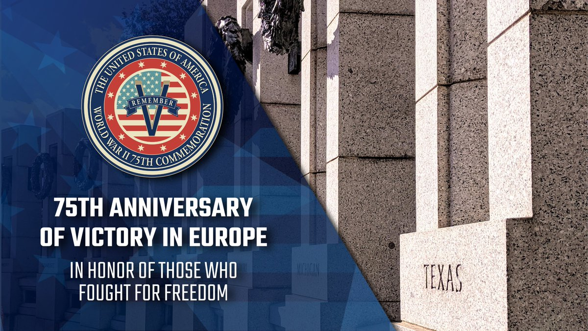 Today we honor the brave men and women whose sacrifices brought the Allies Victory in Europe 75 years ago. Together, with those who fought with us across the Atlantic, let us celebrate those who fought for freedom. #VEDay75