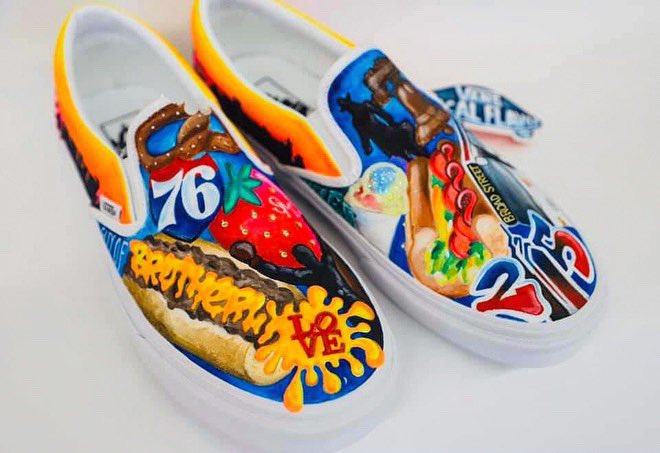 These are super dope! Shout-out to Philadelphia's Strawberry Mansion High School!   Vote at Vans Custom Culture website below. If they win, they get $50,000 for their Visual Arts program!   https://t.co/Q33B9USfTk  #VansCustomCulture | #PhillyRepresent https://t.co/DTkoWK2yge