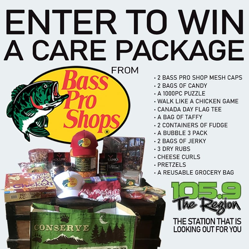 NEW GIVEAWAY! Weve teamed up with our friends @BassProToronto for a great prize worth $156! Included: 2 bass pro shops mesh caps, 2 bags of Candy, a 1,000 piece puzzle, Walk like a Chicken game, Canada day flag tee & much more. To enter: 🏆 Follow us on social 🏆 Tag a friend🤞