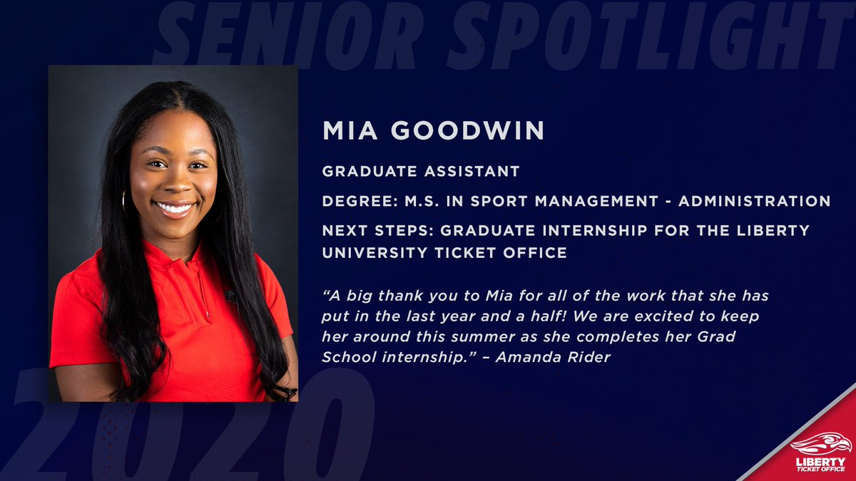 Next we have Mia! She was one of our Graduate Assistants Mia and completed her Master's Degree!   Congrats Mia! https://t.co/lzNjzOJKPe