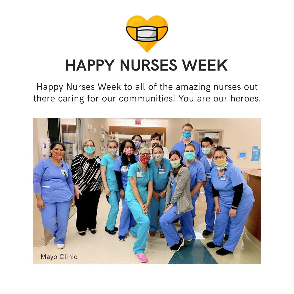 A huge thank you to all of the brave, hard-working nurses on the front lines. You are are heroes! #nursesweek #nursesweek2020 https://t.co/Yurx3q3Uv1