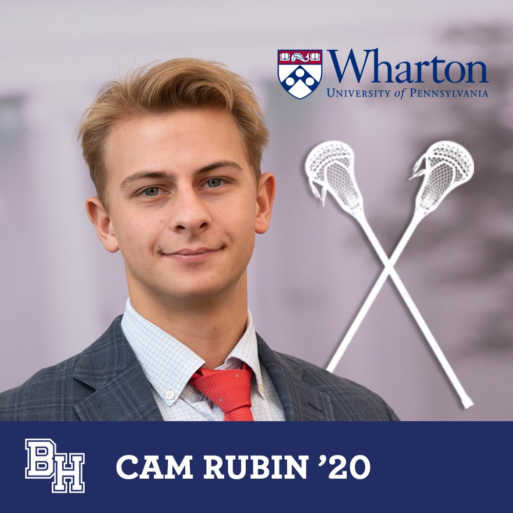 Class of 2020 senior spotlight on student-athlete recruits: Cam Rubin will play for Penn-Wharton #belmonthill2020