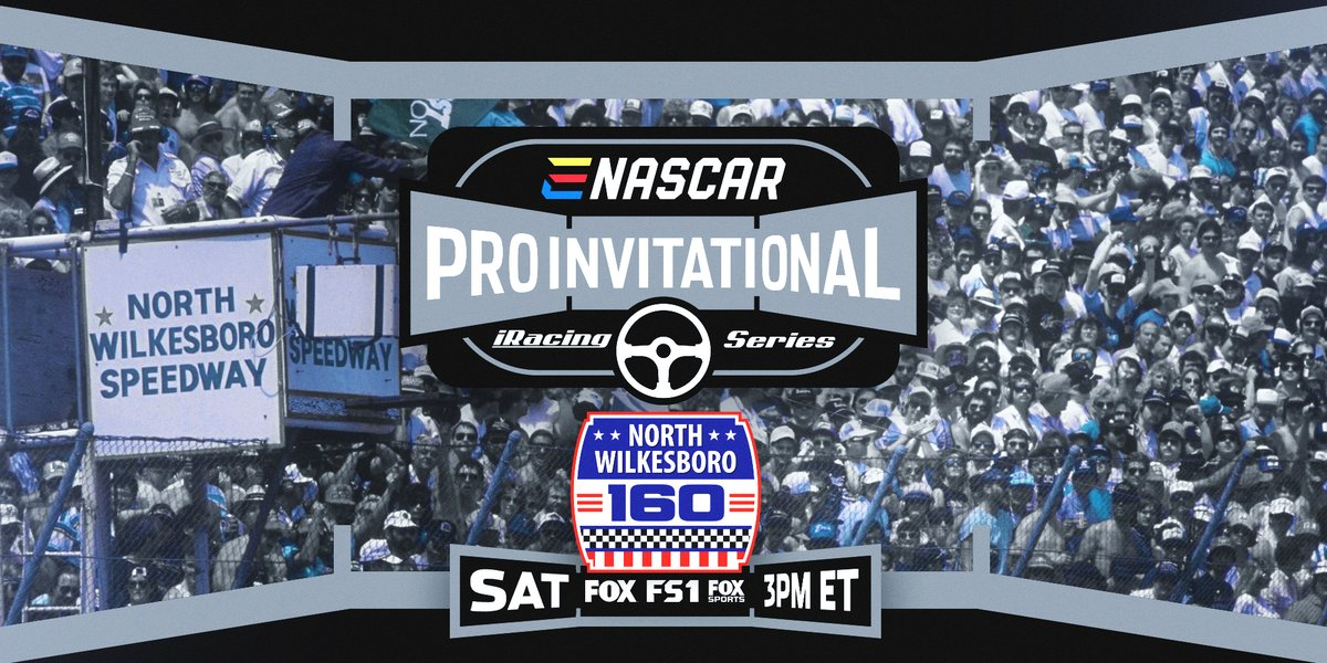 Today at 2:00 pm CT the eNASCAR Pro Invitational Series takes on the historic North Wilkesboro Speedway! Tune in to FOX, FS1, or the FOX Sports App to catch all the action.