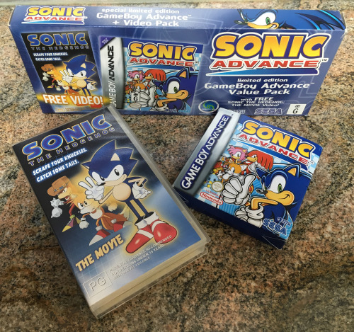 Wacky Workbench On Twitter Exclusively In Australia A Limited Edition Version Of Sonic Advance Was Produced That Came With A Copy Of The Game And A Vhs Of The Sonic Ova Https T Co Veeepzxesx