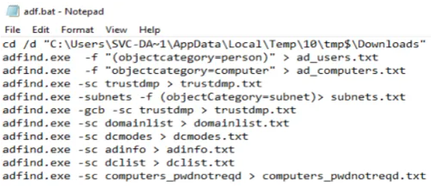 Short write-up on a threat actor using AdFind for recon in the honeypot. thedfirreport.com/2020/05/08/adf… Maze, FIN6 and Trickbot have been seen using AdFind for recon. Maze - fireeye.com/blog/threat-re… FIN6 - fireeye.com/blog/threat-re… Trickbot - cybereason.com/blog/dropping-…