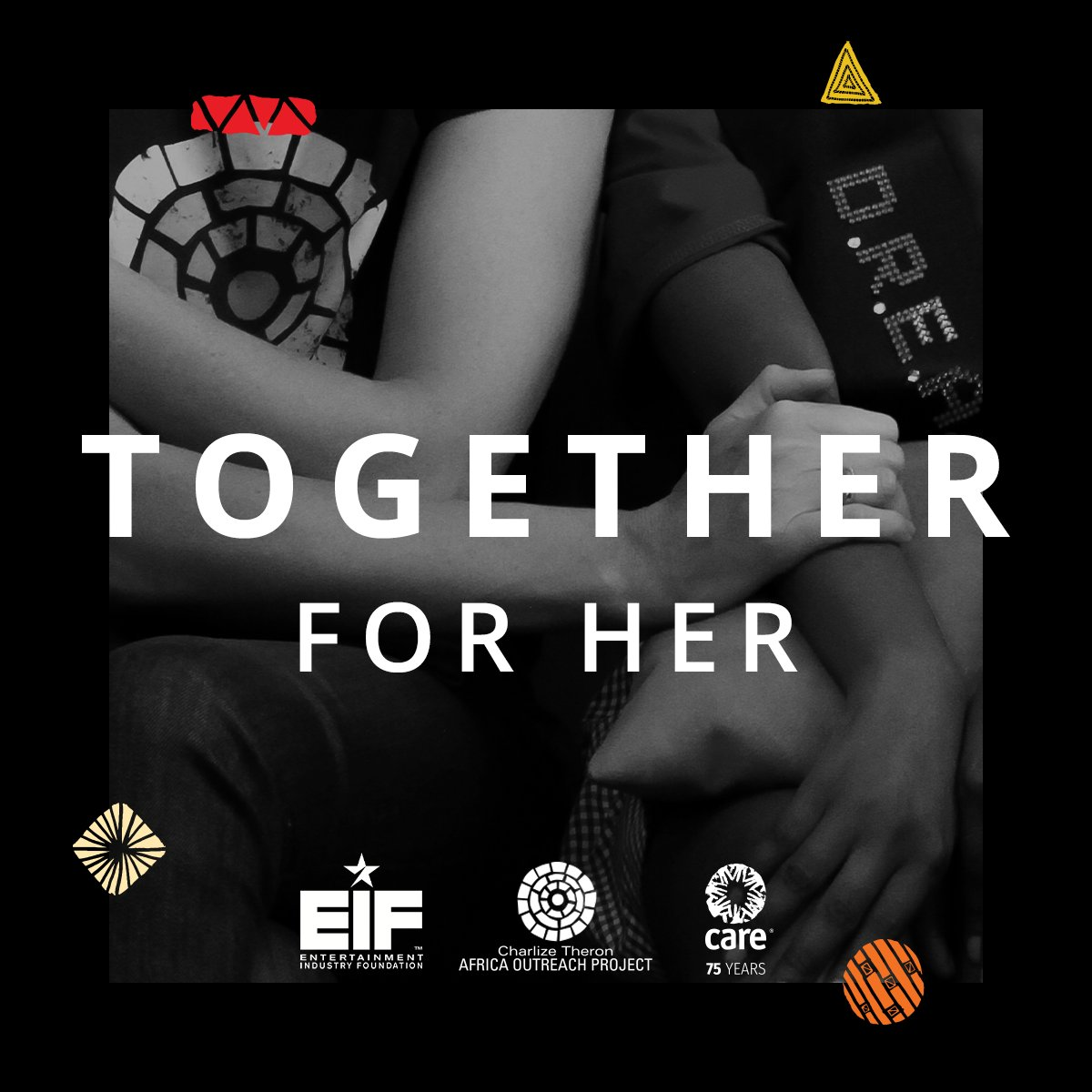 I'm standing #TogetherForHer, in support of women & children experiencing domestic violence in the time of #COVID19. @CharlizeAfrica, @CTAOP, @CARE & @EIFoundation are spotlighting & funding interventions to keep women & girls safe from abuse. Join us: https://t.co/0Z2k49Zf23 https://t.co/PsSG2wglej