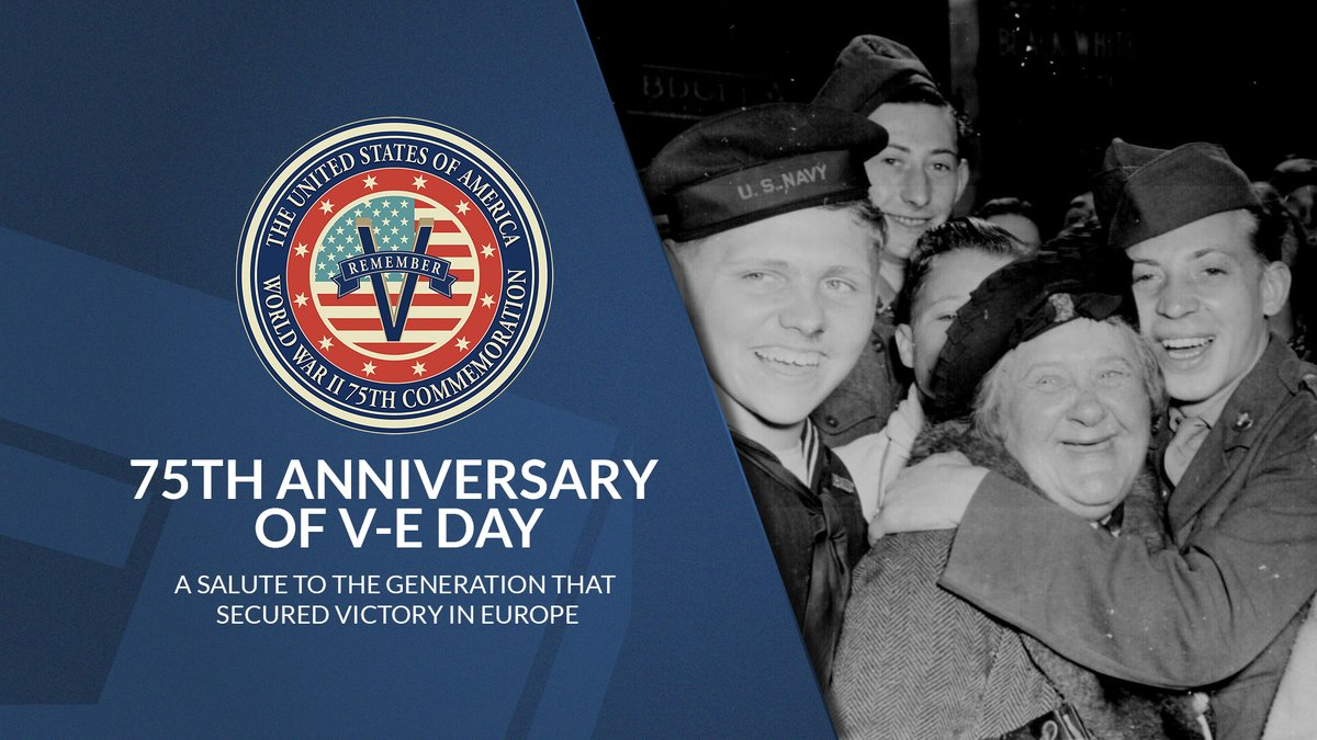 #VictoryinEurope was declared 75 years ago today. We remember the brave men and women who served during #WWII and the sacrifices they made to bring about Nazi Germany's surrender, ending the war in Europe. #HonorThem #DoDRemembers75 #VEDay75 defense.gov/Experience/VE-…