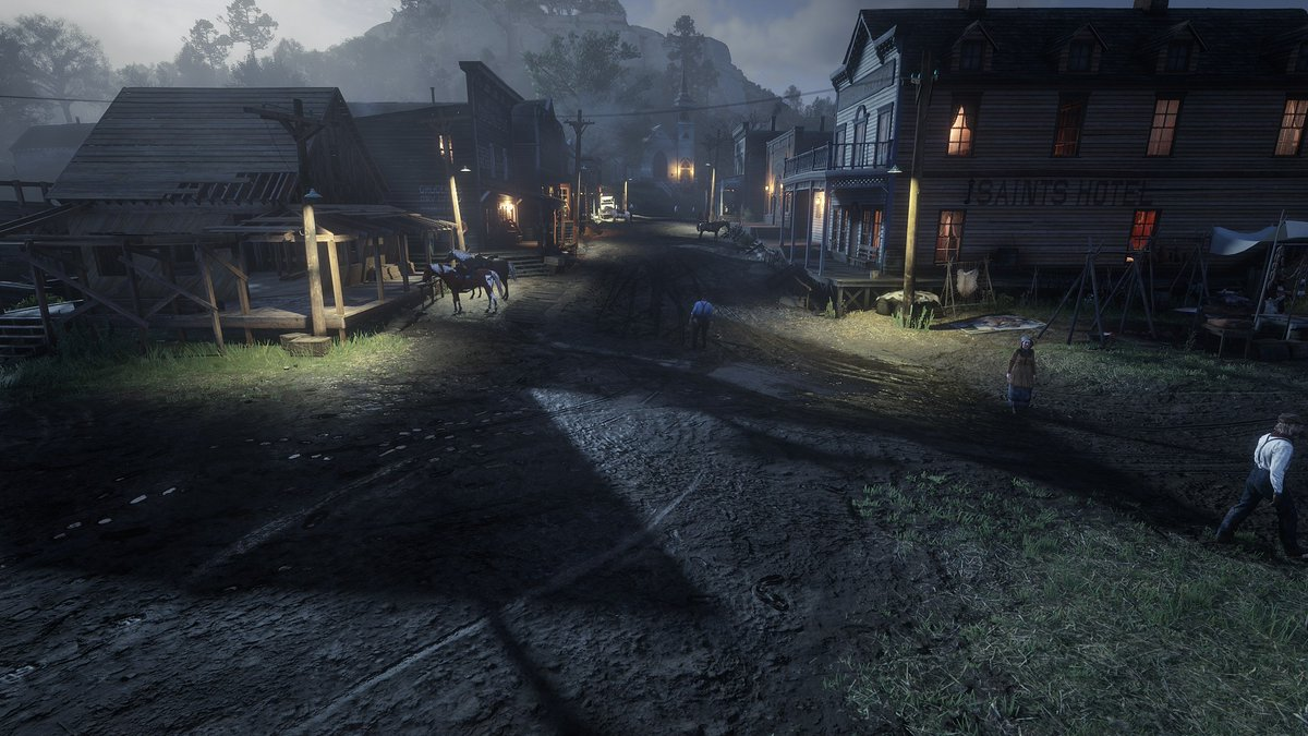 I still can't believe what graphics I see in front of me I spent a lot of time in Valentine and just wandering around the town the graphics are on another level !!! #RedDeadRedemption2 @VideoTech_ @TezFunz2  #VALENTINE pic.twitter.com/sO5JzomvTW