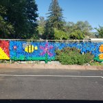 Image for the Tweet beginning: Our Beautiful School Garden Mural