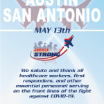 Image for the Tweet beginning: RT @AFThunderbirds: #AmericaStrong Announcement  San Antonio