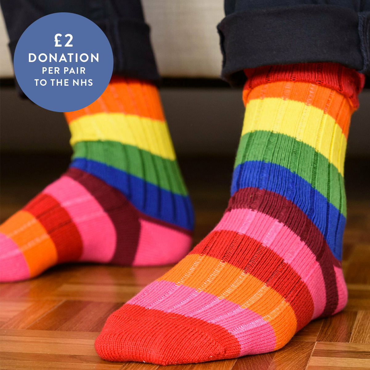 The 🌈 has come to symbolise our hope for better things, and blue and white is now synonymous with the NHS. For this reason, for every pair of socks in these 2 colours that our friend, Win or Lose, sells over in May, they will donate £2 to the NHS.  https://t.co/Rr4lro76th https://t.co/oW28IHTF9M