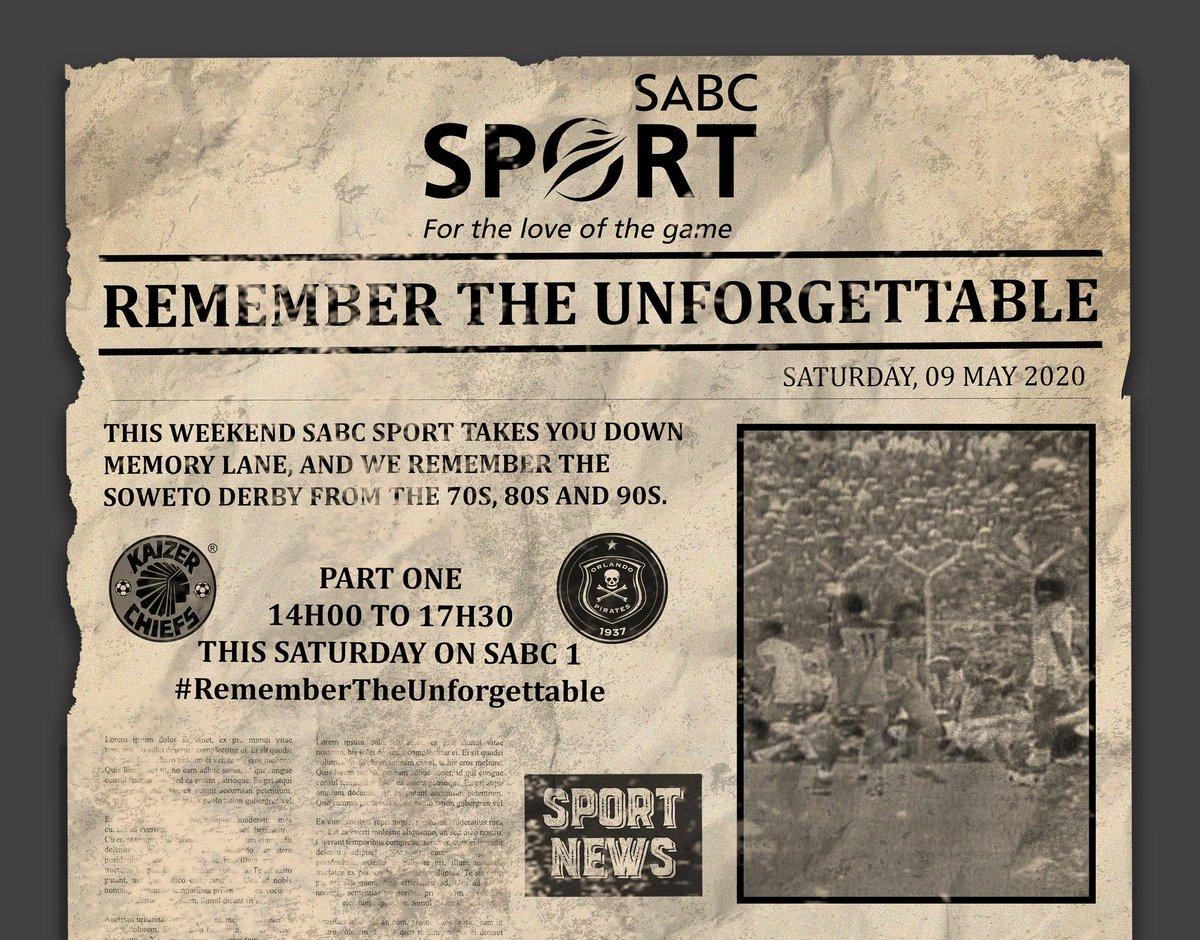 Ta khale ta tlhavula, hiku tisela @KaizerChiefs vs @orlandopirates #SowetoDerby ya khale ka khaleni eka @Official_SABC1 @SABCPortal Ntlangu wu sungula hi 14:00 nhlekani wa namuntlha #RememberTheUnforgettable