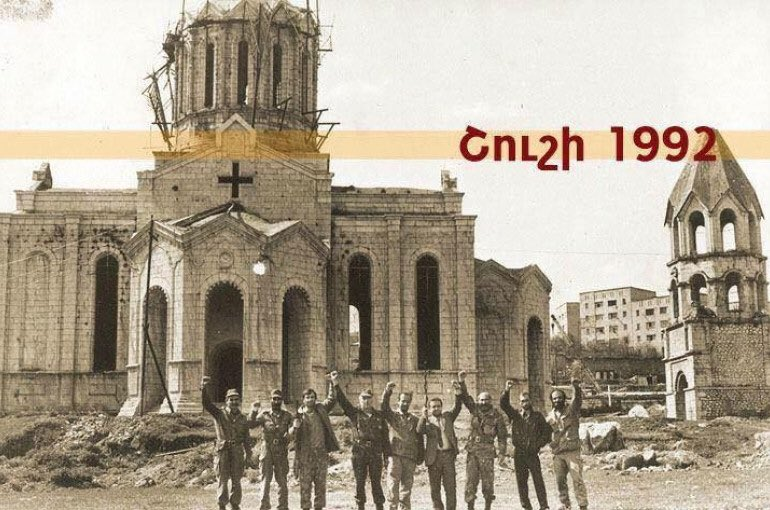 2020 marks the 100th anniversary of the massacres of #Armenia'ns in #Shushi. Today we join the people of #Artsakh in their celebrations of the treble victory. It signifies resilience, determination and defiance against aggression #ShushiLiberationpic.twitter.com/mJuaYY2PKL