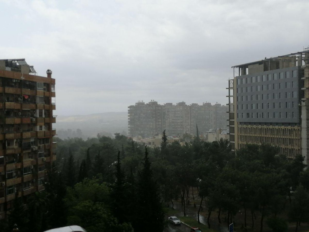Good Morning from #Damascus with love #rain #nosummer #Syria