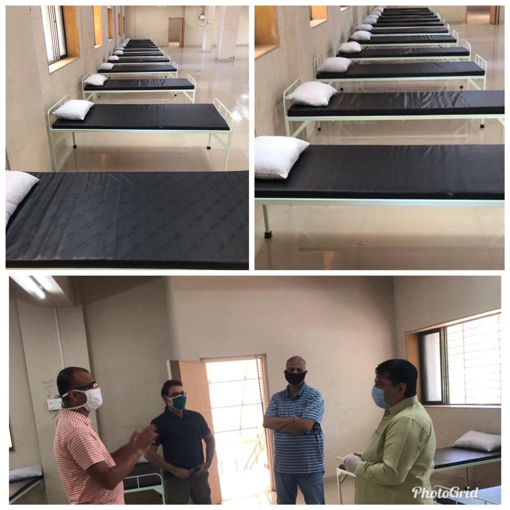Mihir Kotecha On Twitter Today Inspected The Preparation Of New 125 Bed Ccc Facility Being Setup For Covid 19 Patients In Mulund Alongwith Our Mp Manoj Kotak Ji Dmc Mybmcwardt Wo