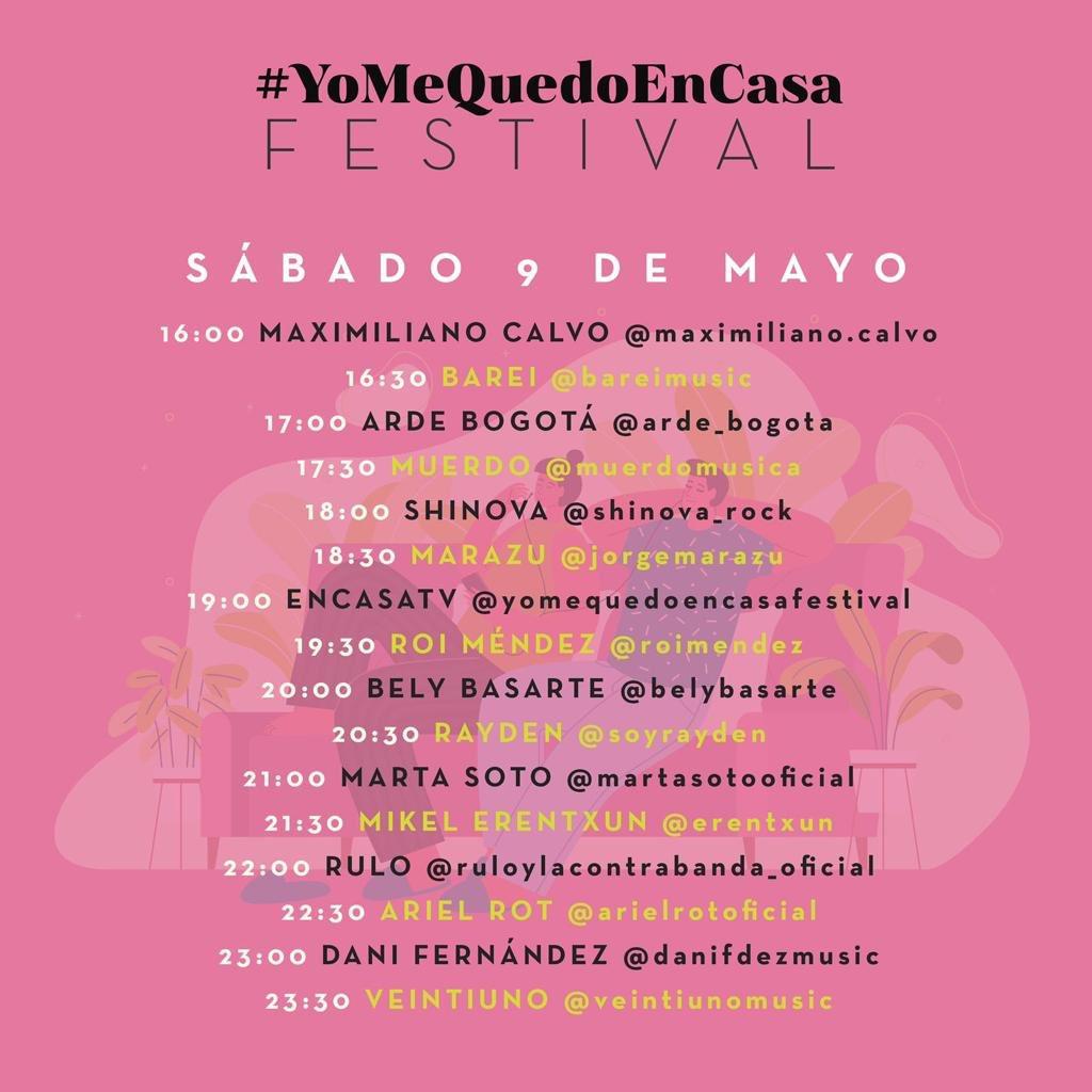 hoy voy a estar en instagram a las 21:00 haciendo directo!!! qué canciones os gustaría que cantara??? #yomequedoencasafesfival https://t.co/qGL7lQ2lCn