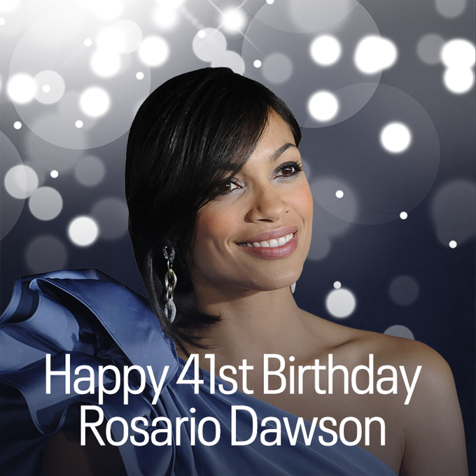 Happy 41st birthday to actress Rosario Dawson.