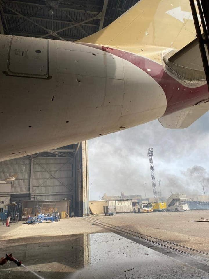 Бомбардировка аэропорта Митига. 09.05.2020