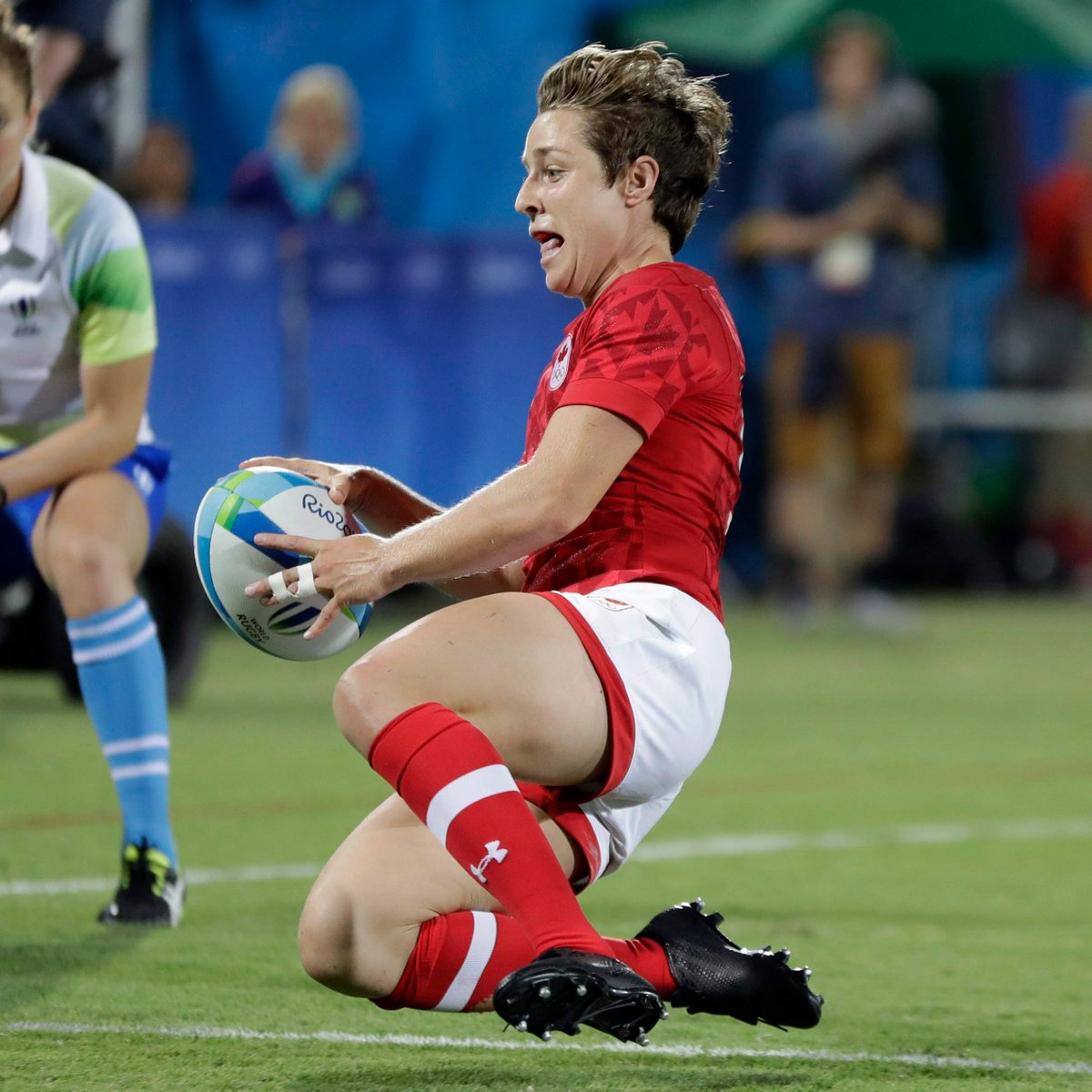 Recognized as one of the top try scorers in womens rugby sevens, @ghis_landry will be interviewed by @AndiPetrillo during todays @cbcsports broadcast 👏 Learn more about #TeamCanadas Ghislaine Landry before reliving the 🥉 game 👉bit.ly/2YLWWxp