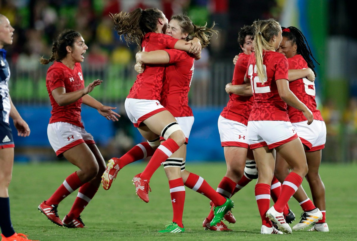 #TeamCanada bounced 👏 back 👏 to secure the first-ever Olympic 🥉 for rugby sevens at #Rio2016 🤩 See what the players had to say about their performance👉bit.ly/2WiIavo