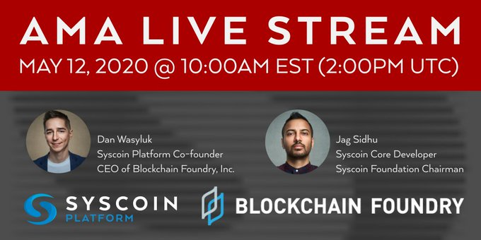 Syscoin AskMeAnything Live Stream