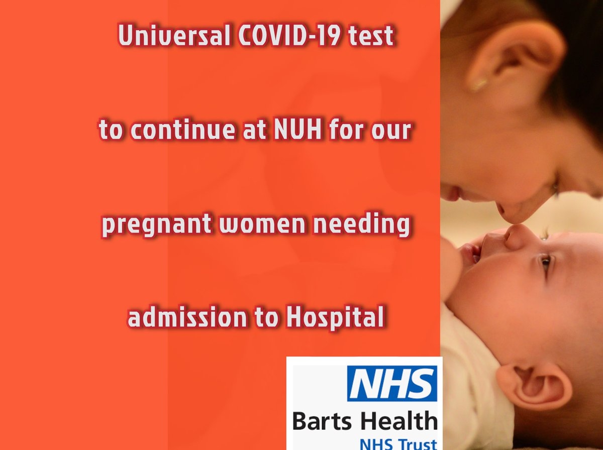 NUH maternity started universal screening on the 22nd April for our pregnant women . Results analysed and soon will be published with both patient and staff survey @NUHmaternity @Gsep_ @Gloria_Rowland1 @NHSBartsHealth @A_WilliamsNHS https://t.co/El1blDVkr9