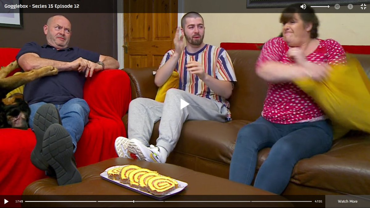 #Goggleboxers react - Tommy is aboutto get a pillow in the face! #Gogglebox