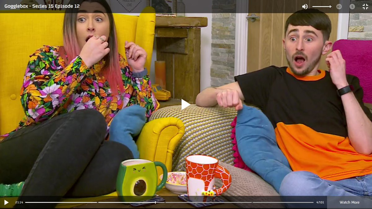 Obligatory Sophie & Pete scare #GoggleboxersReact #Gogglebox  only found out about June at the end - RIP Mrs. Bernicoff