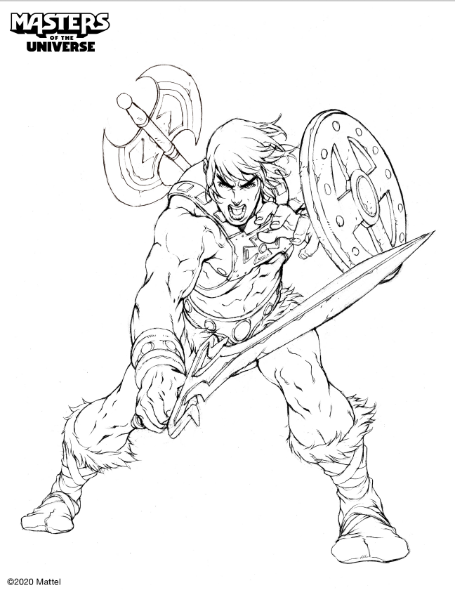 He Man For Boys 23 - Friv Free Coloring Pages For Children ... | 840x648