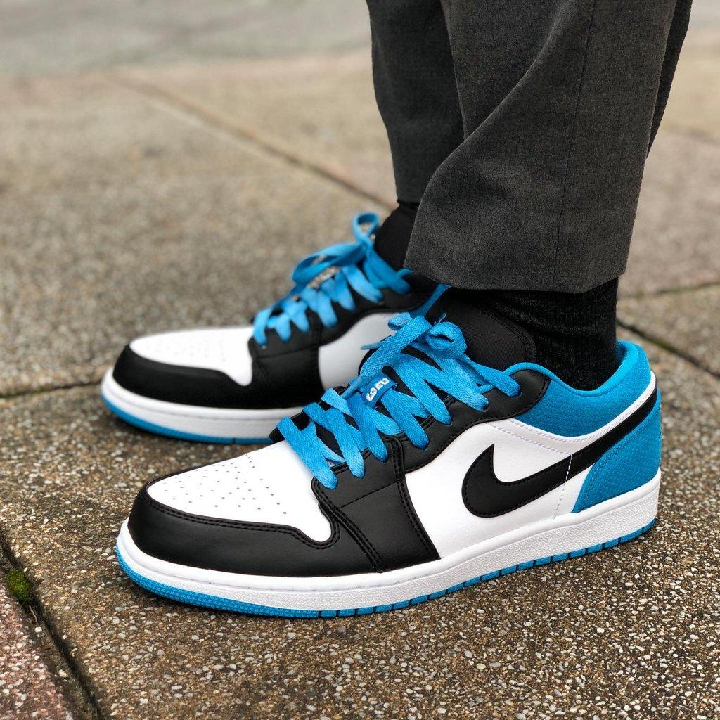 air jordan 1 low blue outfit