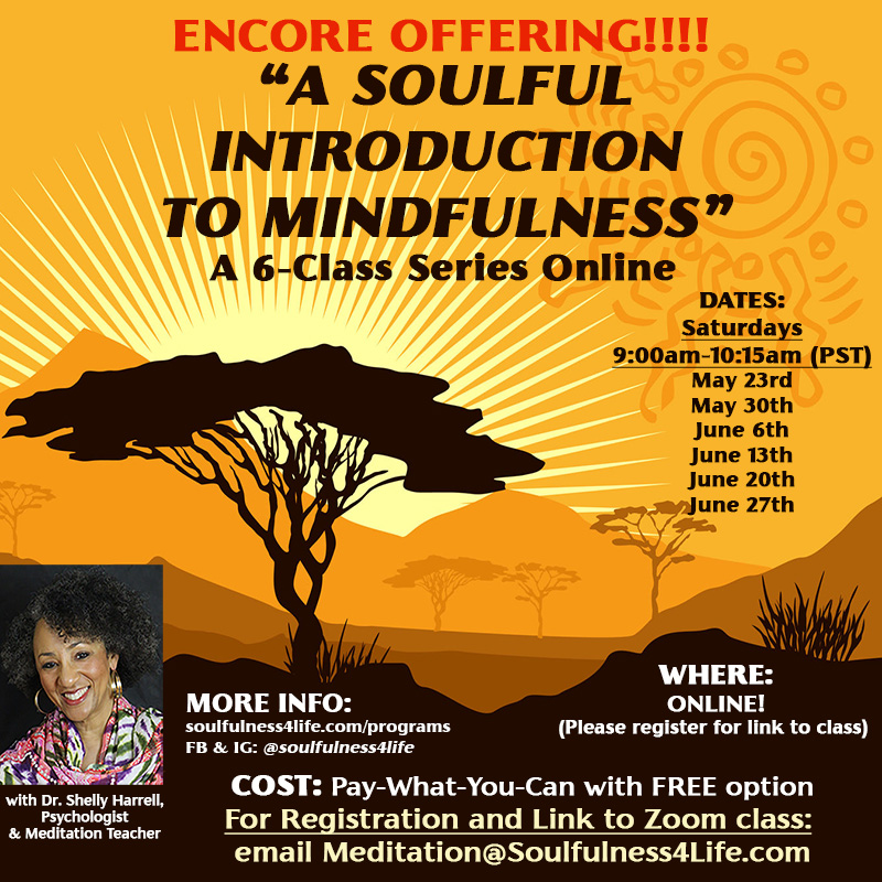 """Soulful Intro to Mindfulness"" Class Series starts May 23rd! https://t.co/8cRjSniGQy   #meditation #mindfulness #mindfulnessmeditation #soulfulness #stressmanagement  #empowerment #innerpeace #selfcare #wellness #wellbeing #mindbody #mindbodysoul  #healing #wisdom #POC #BIPOC https://t.co/OczxDp7YA7"