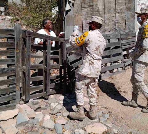 Sedena entrega despensas a población vulnerable por la emergencia sanitaria