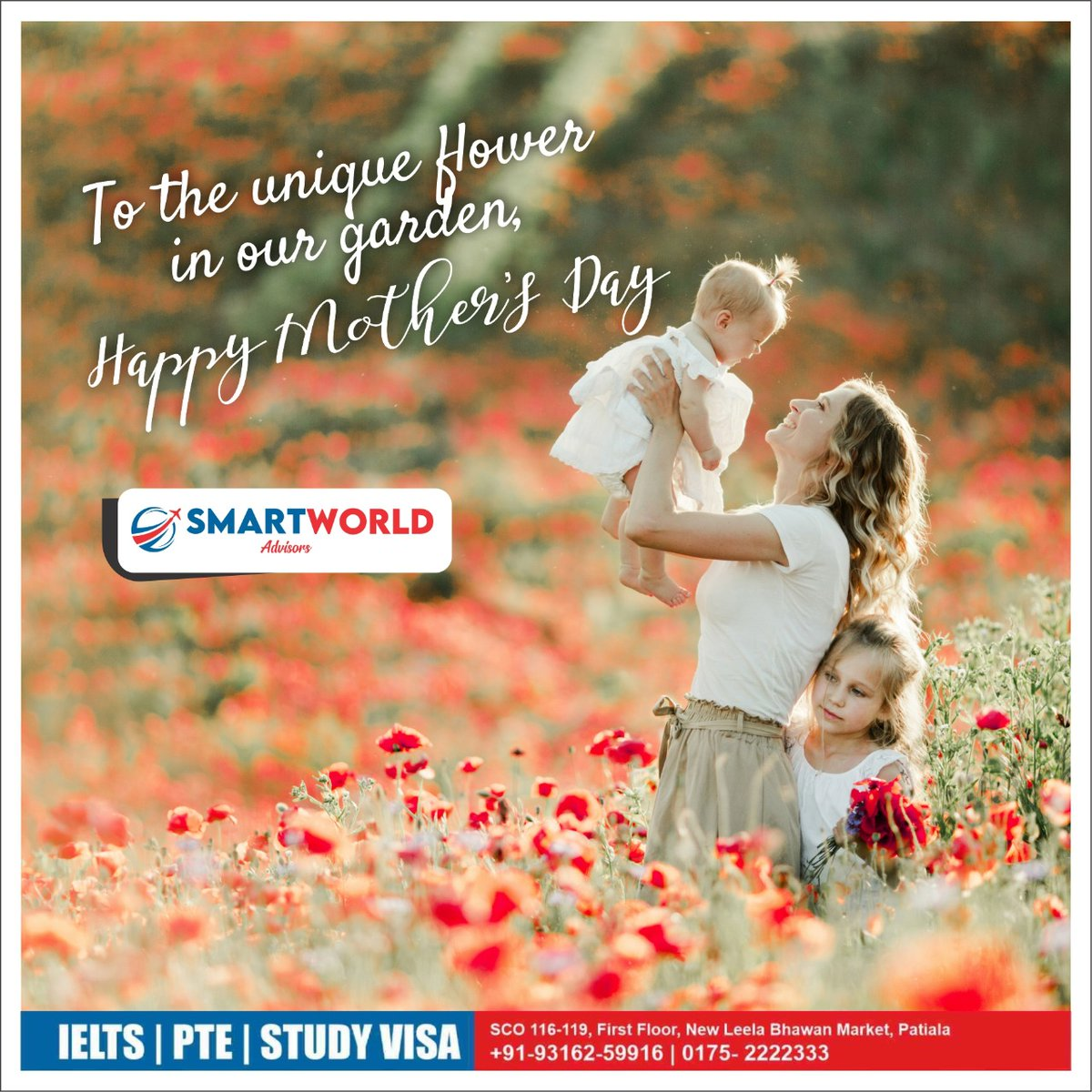 Mother  The most beautiful word on the lips of mankind #happymothersday #mothersday #mother #mothersdayspecial #motherlove #loveformother  #smartworldadvisors #ielts #PTE #studyvisa #wellqualifiedstaff #advisors  Gulzar Chahal Contact No: 93162 59916 | 0175-2222333pic.twitter.com/XqPH1o0DrI