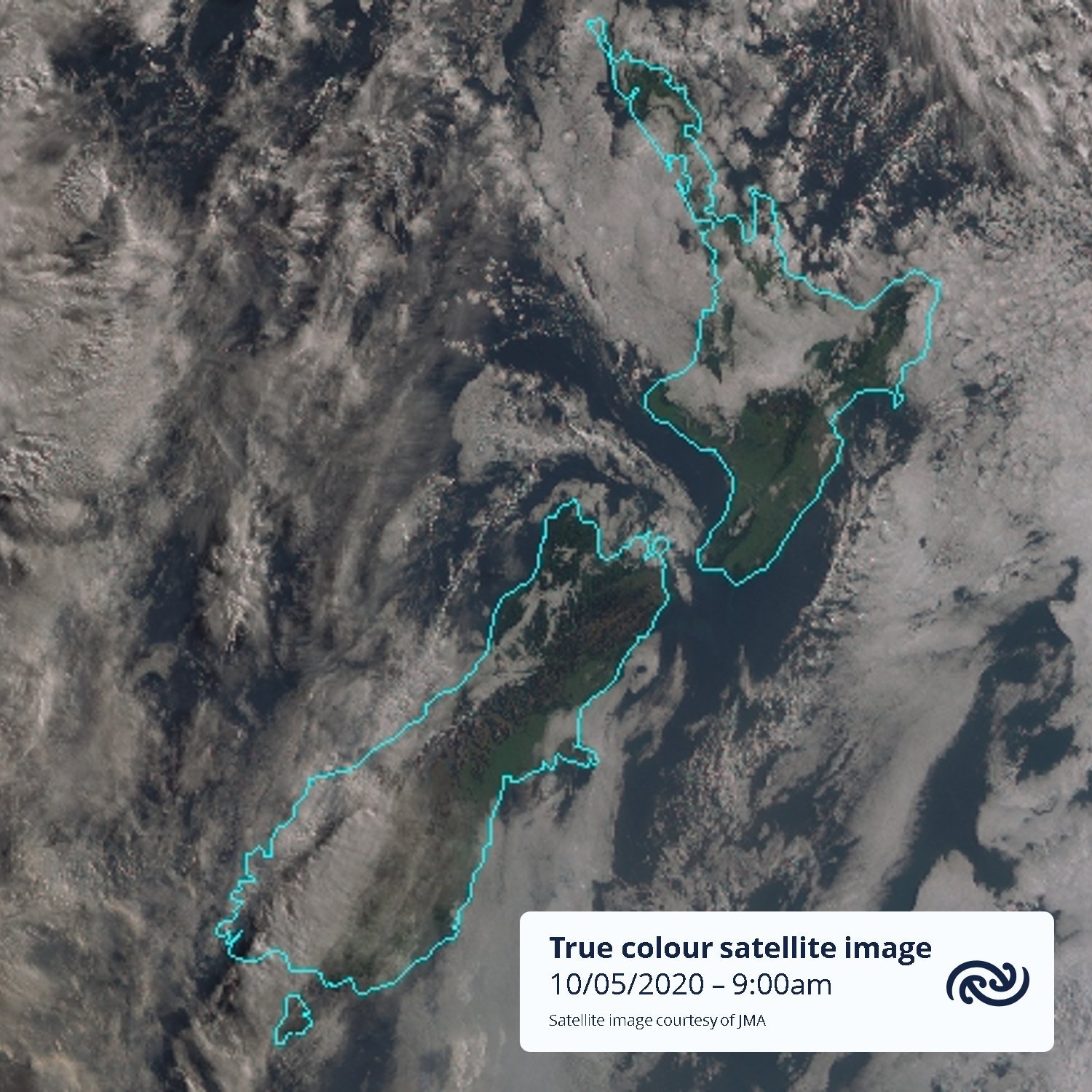 Sunday morning from space Although many places start off with cloud, much of Aotearoa can look forward to sunny skies and mild temps later Check out the MetService App or bit.ly/metservicenz for more ^MM