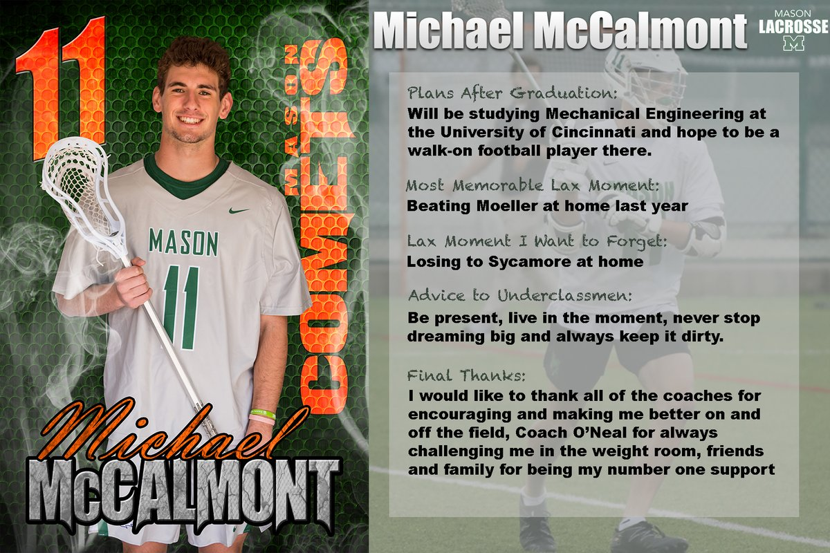 Michael was a physical force with tremendous athletic ability and a first line middie for the Comets.  His heart passion and leadership defined his play.  Mike's off to UC where he hopes to find a spot with the Bearcat Football Team. https://t.co/C9G5G3kmdt