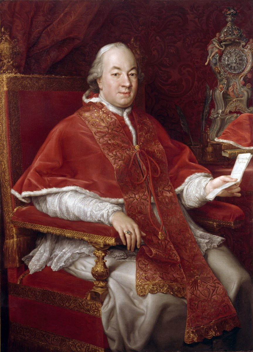 Portrait of Pope Pius VI by Pompeo Batoni, 1775. Supposedly Pius VI was very handsome as a young man and considered vain and conceited by his peers