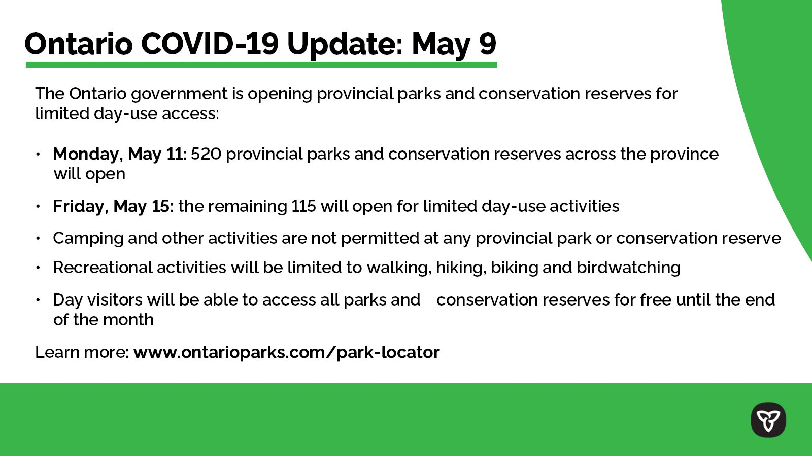 Doug Ford On Twitter Covid 19 Update For May 9 2020 Check Back Daily For Updates Or Visit Https T Co Gmezp5iku5