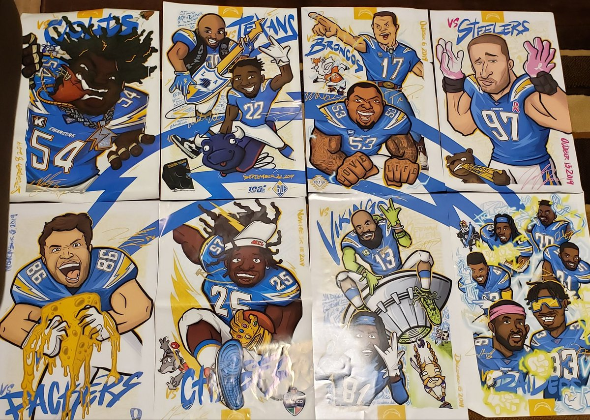 I finally put together all the posters 💛💙💛🙌⚡⚡⚡ #memoriesthatlastalifetime #boltup #chargers #beautyandthebolts #lachargers #dhbc https://t.co/ILwqog8MQW