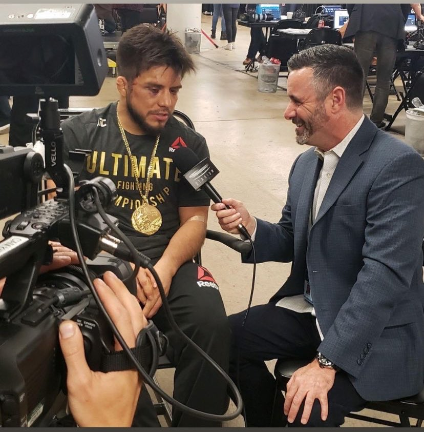 Cruz said he could break Cejudo and that's he's weak mentally. A reminder at #UFC238 last year in #Chicago when he won the belt he did his post fight interview with me in a wheelchair.  So... about that... #UFC249 @HenryCejudo https://t.co/WGEV5zQLSl